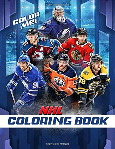 Color Me! NHL Coloring Book: Hockey Coloring and Activity Book for Adults and Kids - Famous League Players and Team Logos