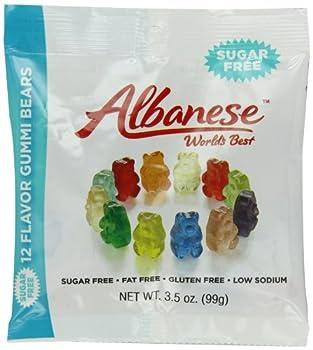 Albanese Sugar Free 12 Flavor Gummi Bears 3.5 Ounce Bag