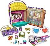 Polly Pocket coffret Popcorn Surprises, mini-cinéma, mini-figurines Polly et Lila et plus de 15 accessoires, jouet pour enfant, édition 2021, GVC96