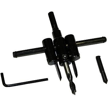 di/ámetro de 30-200mm agujero giratorio de madera cortador de c/írculo de sierra de madera resistente ajustable de 2,54 cm a 15,24 cm HOHXEN Cortador de c/írculo ajustable est/ándar