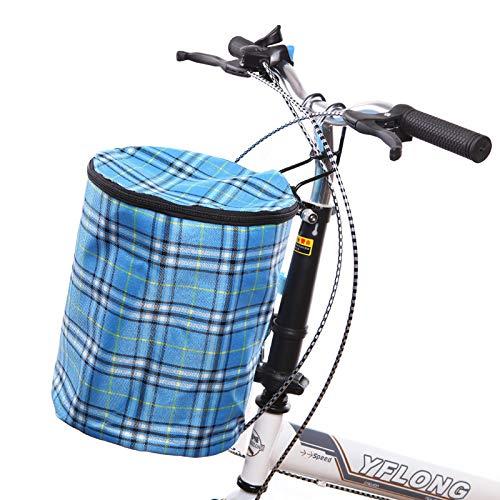 FEZBD Vordere Lenkstange Junior Fahrradkorb, zusammenklappbarer Fahrradkorb Abnehmbarer Fahrradkorb Schnellverschluss Abnehmbare Fahrradtasche Mountain Picnic Shopping