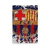 Póster del equipo de fútbol del FC Barcelona con el logotipo del equipo de fútbol de 30 x 45 cm