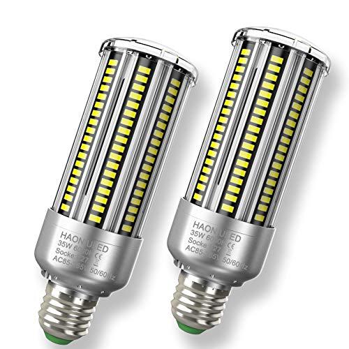 Superhelle E27 LED 35W Kaltweiß 6500K 4000LM Mais Birne Led E27 Lampe Entspricht Glühbirnen 300W, Edison Schraube E27 Maiskolben Led Birnen Led Mais Lampen Led Glühbirnen E27 Nicht Dimmbar, 2er-Pack