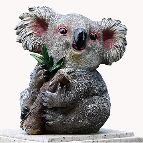 WSJAMA Harz Tier Koala Kaninchen Simulation Kunsthandwerk Tierskulptur Garten Garten Dekoration Panda Ornamente Ornamente