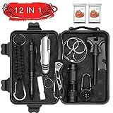 Abida Survival Kit, 12 in 1 Outdoor Emergency Survival Kit mit Survival-Decke, Klappmesser,...