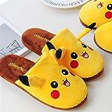 HMZJXZ Y Pokémon Kawaii Pikachu Chaussons en peluche Intérieur chaud Chaussures pour adulte Anime Enfants Fille Cadeau de Saint-Valentin