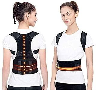 """Adjustable Back Posture Corrector Magnetic Therapy Posture Corrector Brace Shoulder Back Brace Support Belt NO Slouching-Fully Adjustable Back Brace(S (25"""" - 33"""" Waist))"""
