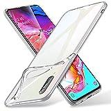 ESR Hülle kompatibel mit Samsung Galaxy A70 Hülle - Weiche Flexible Silikon Handyhülle - Essential Zero TPU Transparente Schutzhülle mit Kameraschutz & Mikrodot Muster- Klar
