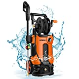 Product Image of the mrliance 3800PSI Electric High Pressure Washer 2.8GPM Power Washer 2000W High Pressure Washer Cleaner Machine with Spray Gun, Hose Reel, Brush, and 4 Adjustable Nozzle(Orange)