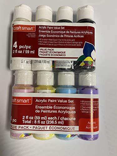 Craft Smart Black & White Acrylic Paint Value Set Pastel Paint Set 2