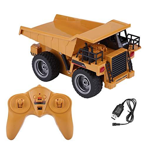Zouminyy 【𝐏𝐚𝐬𝐜𝐮𝐚】 2.4GHz 6CH RC Dump Truck Lights 4 Ruedas Drive Construction Vehicle Toy