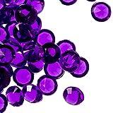 Trimming Shop 4.5mm Diamante Acrílico Mesa Relleno, Confeti Cristales para Boda, Novia Ducha Y Cumpleaños Fiesta Decoracion 2000pcs - Morado, 4.5mm, 4.5mm