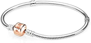 Moments Silver Bracelet with Rose Clasp 58070219