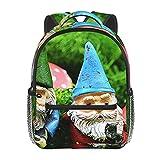 RTUBNSD Kinderrucksack Outdoor Gartenzwerg Spaß, Kindergarten Vorschul Tasche Schultasche für Kleinkinder Mädchen Jungen