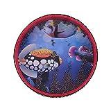 Il tamburo a onde oceaniche è fatto di legno, con dentro piccole palline di metallo. Basta inclinare il tamburo per far rotolare le sfere di metallo, quindi creerà un meraviglioso suono delle onde dell'oceano. Adatto per sviluppare il talento musical...