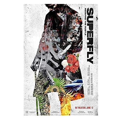 KUANGXIN SuperFly Director X. 2018 Movie Trevor Jackson Film Posters and Prints Wall Art Canvas Painting Home Wall Decor -60x80cm No Frame