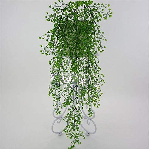 Green Artificial Hanging Ivy Fake Foliage Leaf Flowers Plants Pot Basket Garden Home Party Decor Realistic Wisteria Garland
