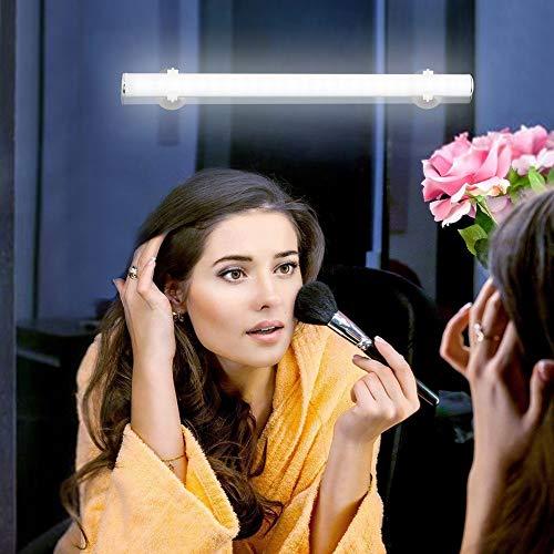 Lixada - Lampada da Specchio a LED, Portatile, con Controllo Touch, per Il Trucco, Senza Fili, Ricaricabile, per Bagno e Armadio da Parete