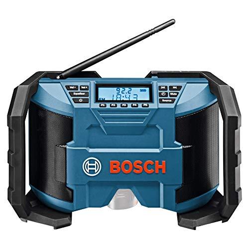 Bosch Professional 0601429200 Radio da Cantiere GPB 12V-10, Cavo AUX 3.5mm, FM/AM, MP3 con...