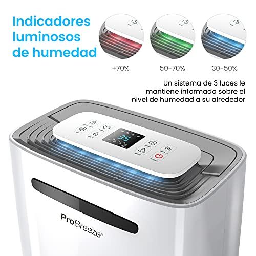 Pro Breeze Deshumidificador 20L, Pantalla Digital,...