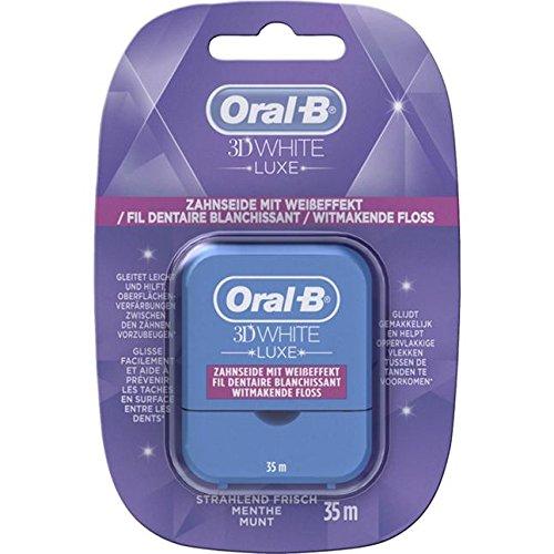 Oral B 3D White Luxe Zahnseide mit Weißeffekt. Spar-Set 3x35m. Für schöne, weiße Zähne