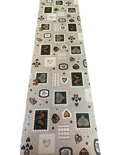 IlGruppone Tappeto passatoia Fantasia Shabby Verde Made in Italy Antiscivolo - Shabby Verde - 50x200 cm