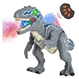 XIAO WEI Jurassic World Dinosaur Toy, Electric Spray Overlord Toy Dinosaur Simulation Colorful Luminous Will Be Called Walking Fire Toy Suitable for 4 Years Old and Above