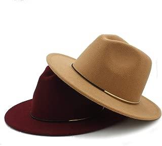 SHENTIANWEI Men Women Wool Winter Fedora Hat Pop Wide Brim Church Fascinator Hat Casual Wild Hat Size 56-58CM