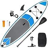 inty Stand Up Paddle Board Inflable, Paddle de PVC/EVA con Remo Ajustable, Bomba de Doble acción, Correa de Transporte, Caja de reparación, alerón (RY-305)