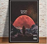 DPFRY Leinwandbilder Kinderuhr Ghost Kanye West Poster