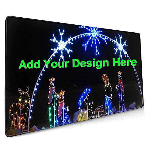 Custom Mouse Pad for Office,Gaming Customized Mouse Pad with Your Design Photo Text in Perfect Print