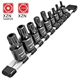 CARBYNE 9 Piece XZN Triple Square Bit Impact Socket Set, 4mm to 18mm | Chrome Molybdenum Steel