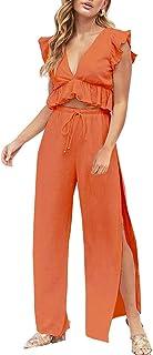 9139a5672 Amazon.es: conjunto falda top mujer - Naranja: Ropa