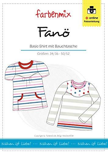 Fanö Farbenmix Schnittmuster (Papierschnittmuster in den Größen 34/36 - 50/52) Shirt