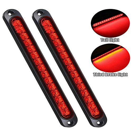 "Pseqt 10"" 15 Led Trailer Tail Light Bar Stop Turn Tail Lights Assembly Third Brake Strip Waterproof"