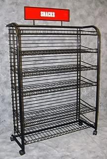Black 6 Shelf Rack for Candy,Snack Display Rack 51 3/4
