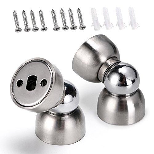 Sumnacon Powerful Magnetic Doorstop - 2 Pcs Stainless Steel Mini Door Stopper, Heavy Duty Magnetism Door Holder for Bedroom Bathroom Kitchen Home Office