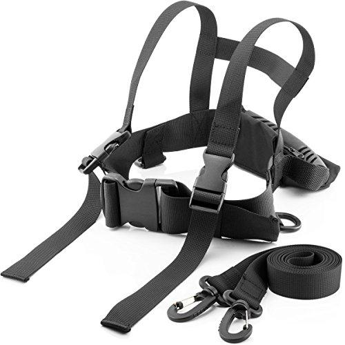 MidGard SKI Sicherheitsgurt für Kinder Ziehgurt Skigurt Lernhilfe Skitrainer Pferdeleine