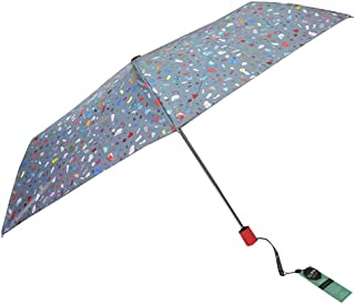 Automatic Folding Umbrella Lady Pocket Portable Umbrella Mini Sunshade Umbrella Rain and Rain Umbrella Huhero (Color : Gray)
