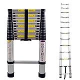 LARS360 3.8m Escalera Telescópica Multifunción Escalera Extensible Plegable E...