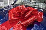 Kenley Lazo Gigante para Coche - Lazo Magnético Rojo de 76cm con Cintas de 185 cm - Adorno Sorpresa para Regalo de Bodas Cumpleaño Navidad - Se Acopla con Imanes y Ventosas
