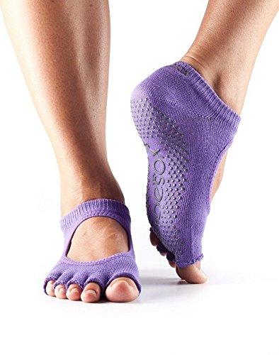 toesox Grip Half Toe Bella Light Purple Medium, 1 EA
