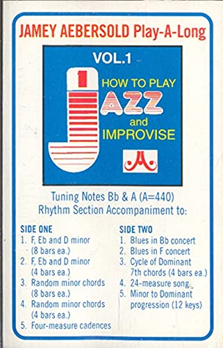 Jazz, How to Play & Improvise, 1 - Jamey Aebersold Play-a-Long Cassette Cassette Tape