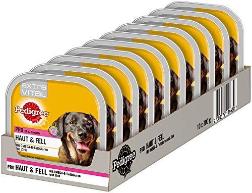 Pedigree Hundefutter Nassfutter Extra Vital Pro Haut & Fell, 10 Schalen (10 x 300g)
