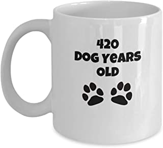 60 Year Old Birthday Gifts for Women Men 420 Dog Years Old Funny Coffee Mug