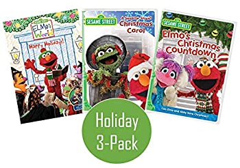 Ultimate Sesame Street Holiday 3-Pack DVD Collection  Elmo s World  Happy Holidays! / A Sesame Street Christmas Carol / Elmo s Christmas Carol