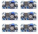 Greluma regulador de Voltaje de Alta eficiencia LM2596S DC a DC de 6 Piezas 3,2-40V a 1,25-35V convertidor Buck módulo Reductor de Fuente de alimentación DIY,para Arduino