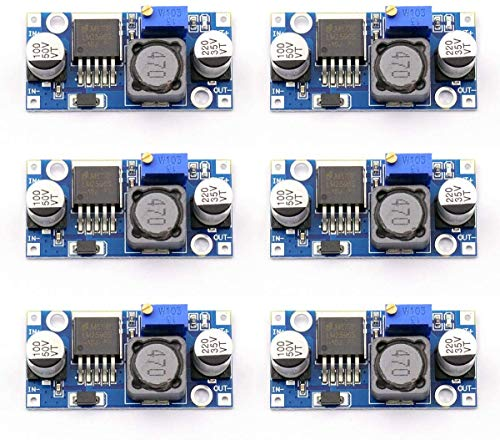 Greluma 6 Pcs LM2596S DC to DC High Efficiency Voltage Regulator 3.2-40V to 1.25-35V Buck Converter DIY Power Supply Step Down Module,for Arduino