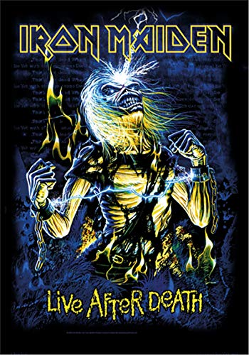 Global Merchandising Iron Maiden Flagge Fahne LIVE After Death # 3 POSTERFLAGGE Stoff Poster Flag