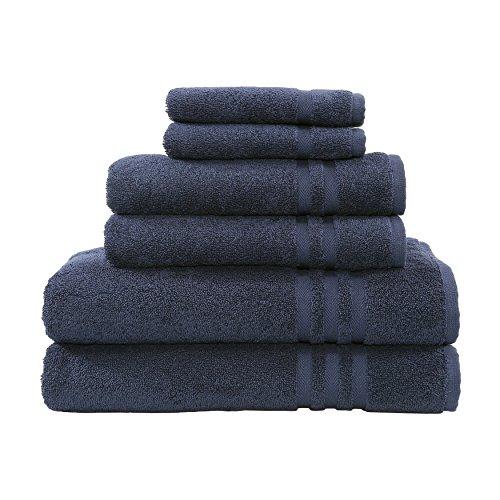 Linum Home Textilien 6Stück denzi Premium Authentic Weich 100% Türkische Baumwolle Hotel Collection Handtuch Set Blau - Twilight Blue